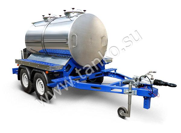 Емкость на прицепе двухсекционная 2400 литров два отсека по 1200 литров