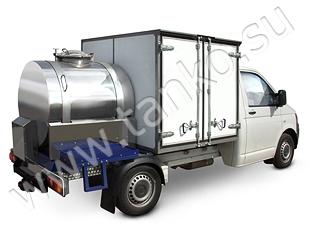 Емкость и изотермический фургон VW гибрид для торговли молочными продуктами