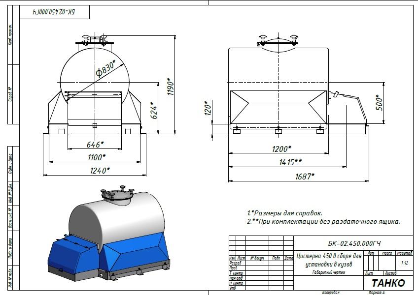 Цистерна с термоизоляцией для пищевых жидкостей
