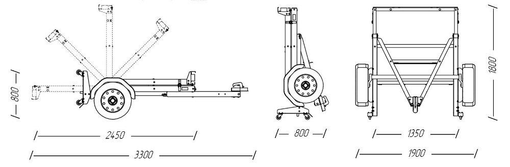 Телега для квадроцикла своими руками чертежи 72