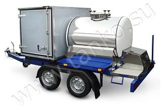 Торговый прицеп гибридный комби цистерна и фургон изотерм