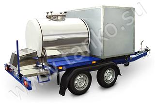 Прицеп-цистерна и комбинированный фургон двухосный с тормозом