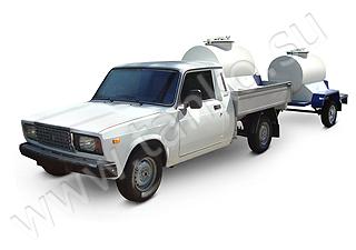 Емкость для перевозки молока устанока в кузов