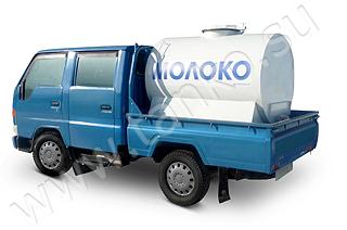 Цистерна пищевая в кузов а/м 1200 литров