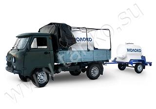 Автоцистерна в кузов а/м с прицепом