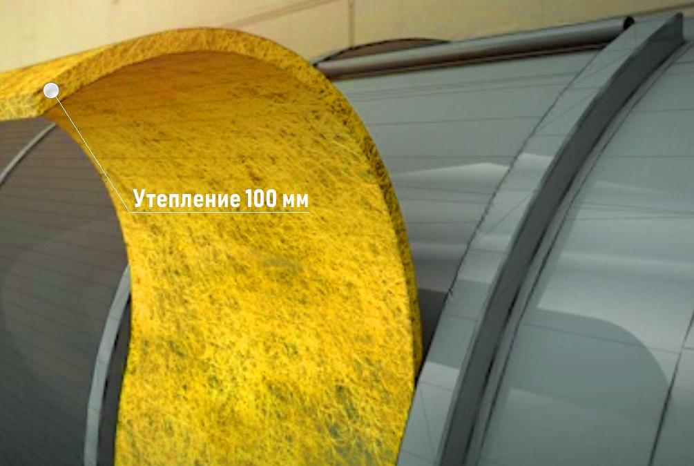 Термоизоляция цистерны 100 мм