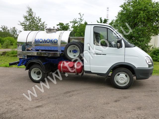 Молочная цистерна на базе ГАЗ-3302 объемом 1200 литров