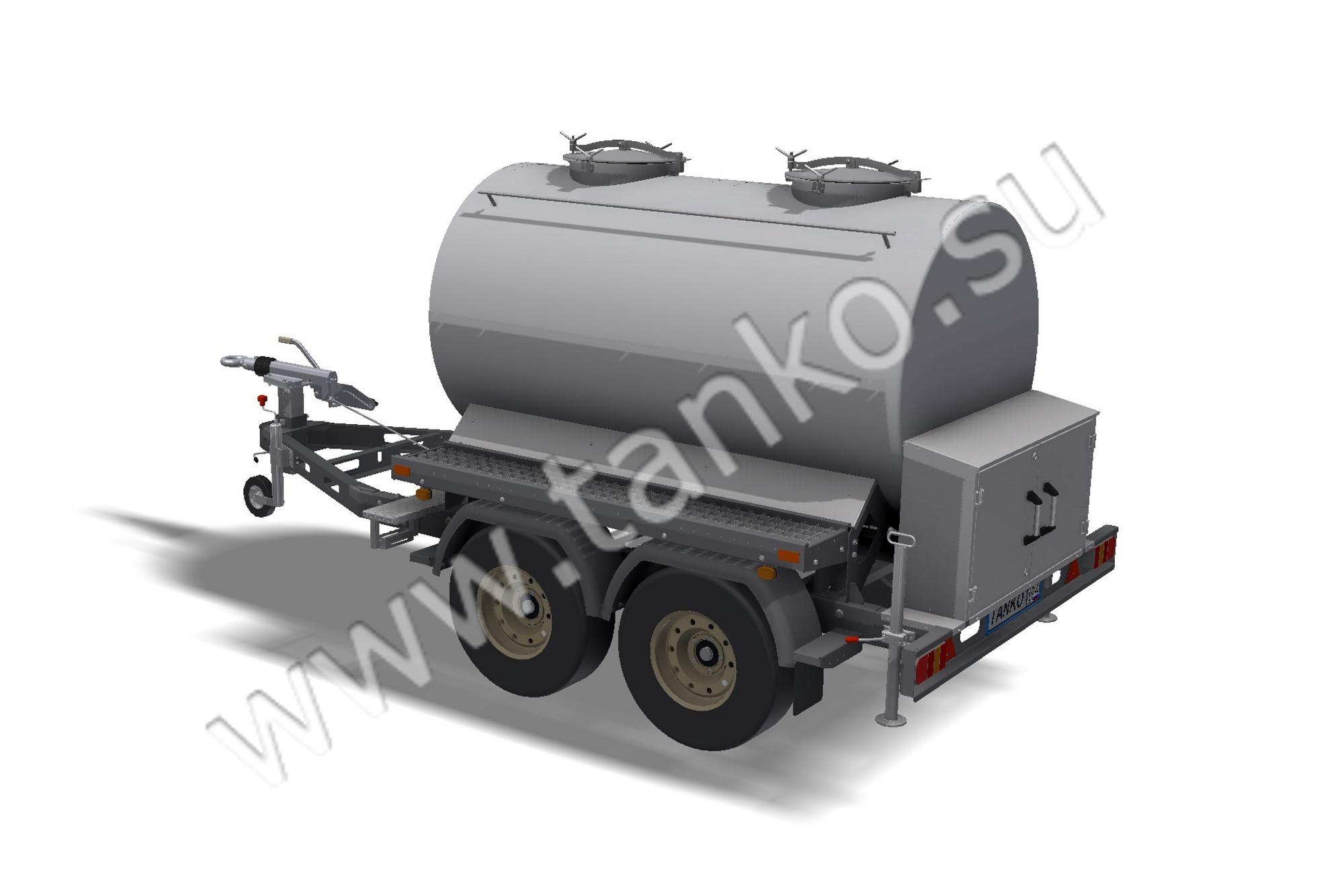 Водовоз, цистерна для подвоза воды, 2 тонны, прицеп-цистерна для жидкостей